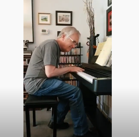 Raymond Benson Plays Piano