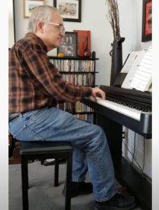 Raymond Benson Plays Piano